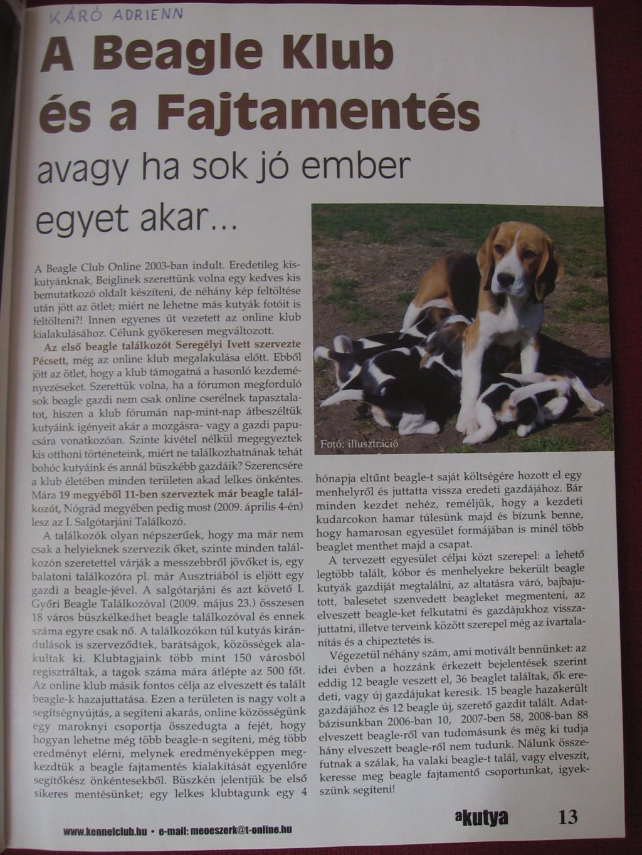 A Kutya magazin, 2009. május